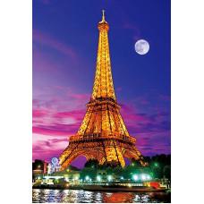 """Диамантен гоблен """"Париж"""" 21x25 см с частично облепяне с кръгли диамантчета и красива кутия"""
