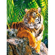 """Диамантена Мозайка с кристали """"Красив тигър"""" 50х65см с подрамка и красива кутия YSG0054"""