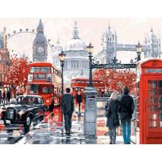 """Диамантен гоблен с кристали """"Лондон Стрийт"""" 40х50см с подрамка и подаръчна кутия"""