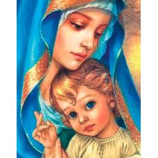 """Диамантен гоблен с кристали """"Holy mother"""" 40х50см с подрамка и подаръчна кутия"""