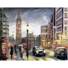 """Диамантен гоблен с кристали """"Лондон през есента"""" 40х50см с подрамка и подаръчна кутия"""