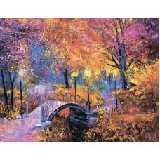 """Диамантен гоблен с кристали """"Есенни цветове"""" 40х50см с подрамка и подаръчна кутия"""