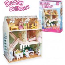 3D Пъзел Cubic Fun Детска куклена Къща за сглобяване с мебели. 160 части