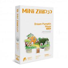 3D Пъзел Mini Zilipoo, Мечтана тиквена къща, Жива градина, 20x14x11 см M004