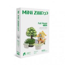 3D Пъзел Mini Zilipoo, Пълна къща, Жива градина, 20x14x11 см M005