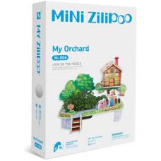 3D Пъзел Mini Zilipoo, Моята овощна градина, Жива градина, 20x14x11 см M006