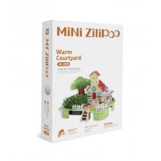 3D Пъзел Mini Zilipoo, Топъл двор, Жива градина, 20x14x11 см M008