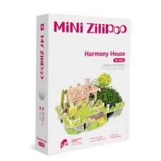 3D Пъзел Mini Zilipoo, Къща на хармонията, Жива градина, 20x14x11 см M011