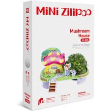 3D Пъзел Mini Zilipoo, Къща с гъби, Жива градина, 20x14x11 см M001