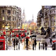 """Пано за рисуване по номера """"Лондонски пейзаж"""" 40х50см с подрамка и подаръчна кутия"""
