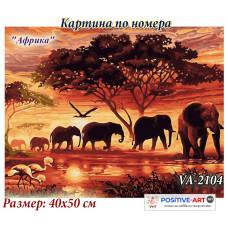 """Картина за рисуване по номера """"Африка"""" 40х50см с подрамка и подаръчна кутия. VA - 2104"""