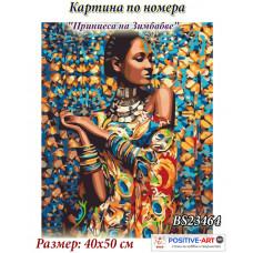 """Картина за рисуване по номера """"Принцеса на Зимбабве"""" 40х50см с подрамка и подаръчна кутия. Brushme GX23464"""