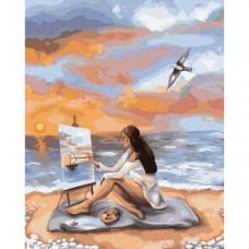 """Картина за рисуване по номера """"Море вдъхновение"""" 40х50см с подрамка и подаръчна кутия. Brushme GX39228"""