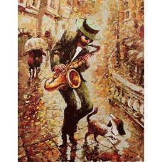 """Премиум. Картина по номера """"Есенен блус"""" 40х50см с подрамка и подаръчна кутия"""