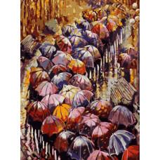 """Премиум. Картина по номера """"Есенни чадъри"""" 40х50см с подрамка и подаръчна кутия"""