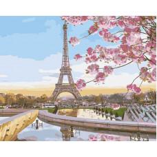 """Премиум. Картина по номера """"Париж в цвят"""" 40х50см с подрамка и подаръчна кутия"""