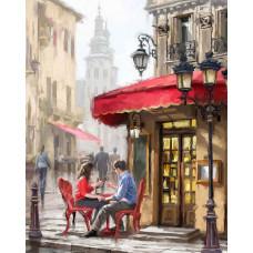 """Премиум. Картина по номера """"Романтична вечеря"""" 40х50см с подрамка и подаръчна кутия"""