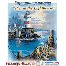 """Премиум. Картина по номера """"Море и фар"""" 40х50см с подрамка и подаръчна кутия"""