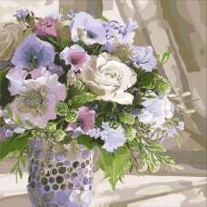 """Картина за рисуване по номера """"Букети. Диви цветя"""" 40х40 см с подрамка. Идейка КНО3087"""