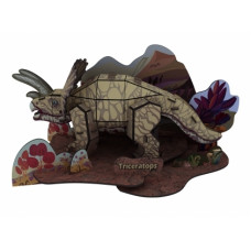 3D Пъзел Динозавр Triceratops