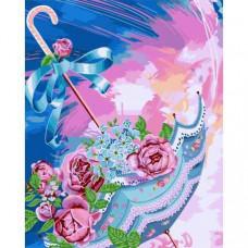 """Премиум! Картина по номера """"Приказен чадър"""" с подрамка и подаръчна кутия. 40/50 см"""
